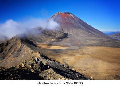 Mount Ngauruhoue (a.k.a. Mt. Doom), part of Tongariro Alpine Crossing hike, North Island, New Zealand