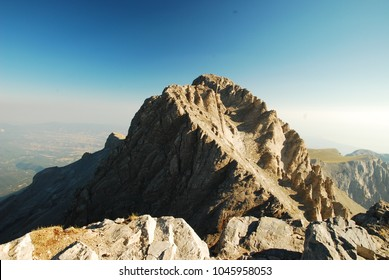 The mount Olympus, in central Greece, and Mytikas, its highest peak