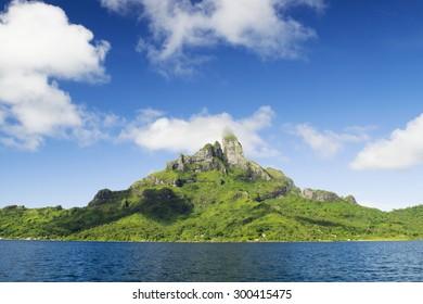 Mount Otemanu and Mount Pahia in Bora Bora, French Polynesia
