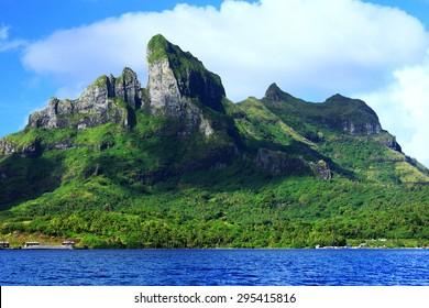 Mount Otemanu from the water in Bora Bora French Polynesia