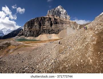 Mount Pinnacle, Sentinel Pass Hike, Lake Louise Banff National Park, Alberta, Canada Picture taken on September 26, 2015