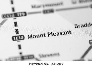 Mount Pleasant Station. Singapore Metro map.