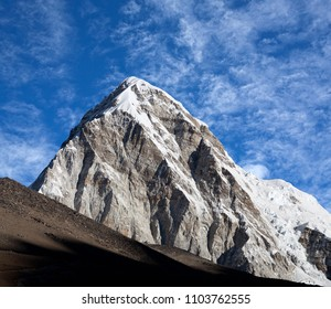 Mount Pumori in Sagarmatha National Park in the Nepal Himalaya