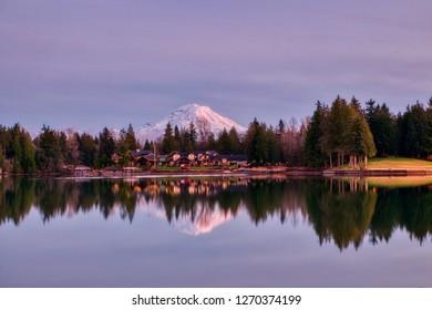 Mount Rainier from Lake Tapps