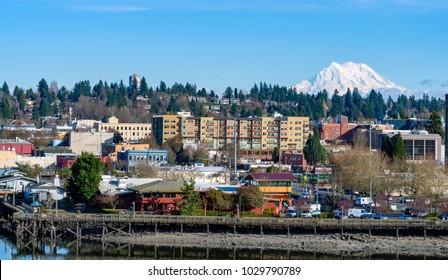 Mount Rainier Overlooks Olympia, Washington