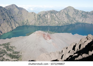 Mount Rinjani secondary Volcano in Crater/Caldera