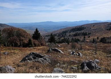 Mount Rogers landscape seen from the meadow