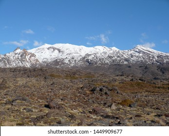 Mount Ruapehu is an active stratovolcano at the southern end of the Taupo Volcanic Zone in New Zealand. The North Island's major ski resorts.