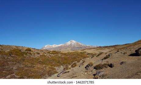 Mount Ruapehu in the Tongariro National Park