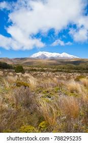 Mount Ruapehu in Tongariro National Park, New Zealand