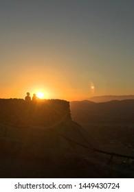 Mount Rubidoux, CALIFORNIA outdoor sunset