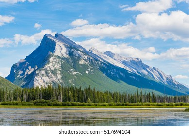 Mount Rundle in Banff, Alberta, Canada