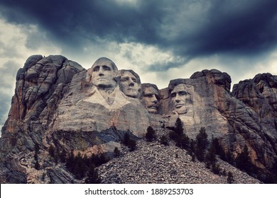 Mount Rushmore National Memorial, Black Hills region of South Dakota, USA. Famous american symbol