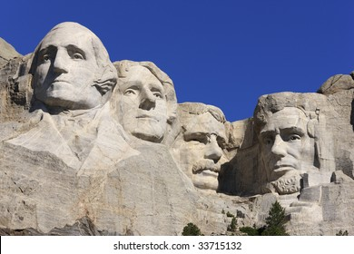 Mount Rushmore National Memorial in the Black Hills, South Dakota.