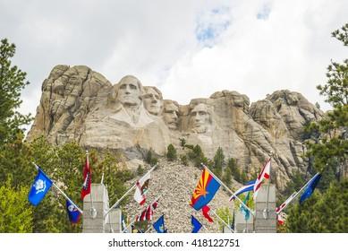 Mount Rushmore National Memorial in summer season,South Dakota,usa.