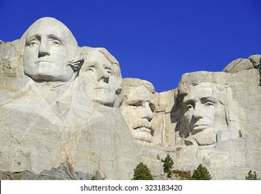 Mount Rushmore National Memorial, symbol of America located in the Black Hills, South Dakota, USA