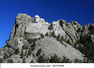 Mount Rushmore National Monument in the Black Hills, South Dakota.