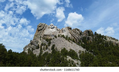 Mount Rushmore National Monument in South Dakota, United States of America, Summer day with clear skies.