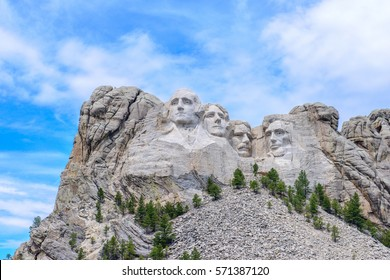 Mount Rushmore National Monument in South Dakota. Summer