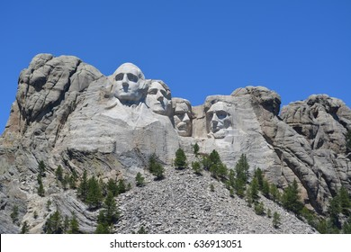 Mount Rushmore at noon