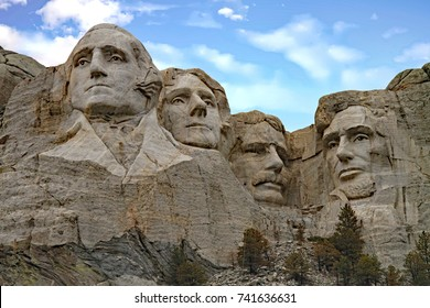 Mount Rushmore is a top tourist destination in the summer.