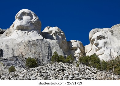 Mount Rushmore from underneath