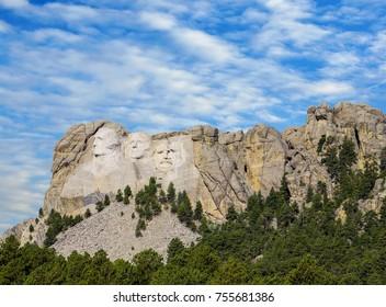 Mount Rushmore, United States – September 05, 2017: Presidential sculpture at Mount Rushmore National Monument, South Dakota, by Natascha Kaukorat
