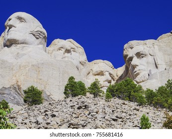 Mount Rushmore, United States – September 05, 2017: Presidential sculpture at Mount Rushmore National Monument, South Dakota, by Natascha Kaukorat