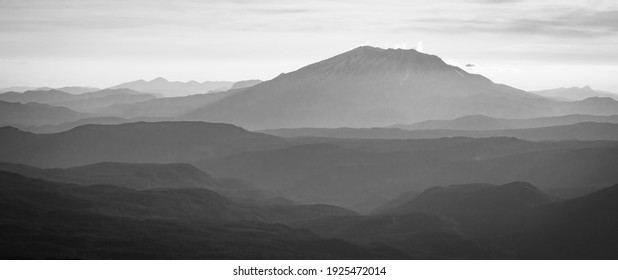 Mount Saint Helens in Black and White
