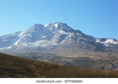 Mount Savalan (Sabalan) in Iran. Savalan is the third highest mountain in Iran. It's 4811 meters altitude.