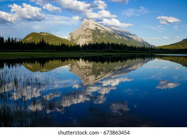 Mount as seen from Vermilion Lakes, Canada