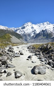 Mount Sefton in New Zealand at Hooker Valley Track