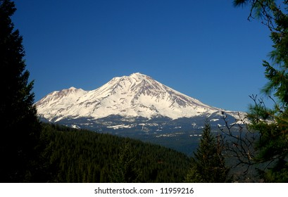 Mount Shasta from Castle Crags, California