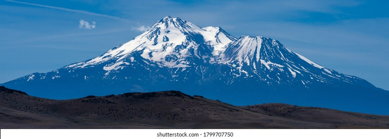 Mount Shasta Landscape Panorama. California, Montague, Summer