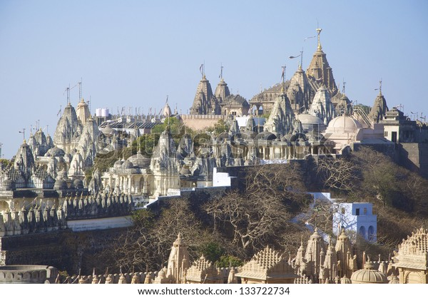 Mount Shatrunjaya, Palitana, Gujarat, known as Shri Shatrunjaya Tirtha, Palitana.  These are important temples and shrines of the Jain religion.