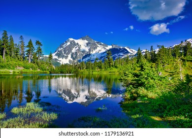 Mount Shuksan from Artist Point, Whatcom County, Washington, U.S. North Cascades National Park