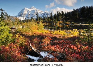 Mount Shuksan in Mt. Baker-Snoqualmie National Forest