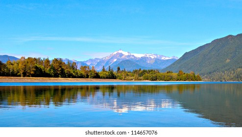 Mount Shuksan reflected in Baker Lake in the  Mt. Baker-Snoqualmie National forest