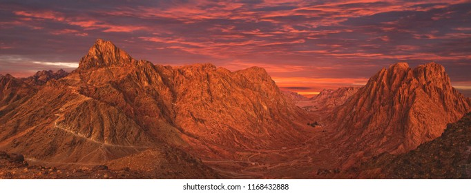 Mount Sinai, Mount Moses in Egypt. Africa.