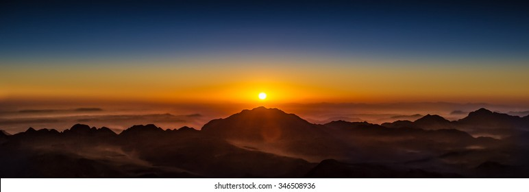 Mount Sinai sunset