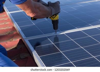 Mount solar panel
