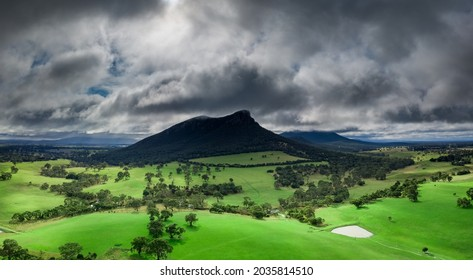 Mount Sturgeon, Grampians National Park, Dunkeld. Even on cold and stormy days, Mount Sturgeon and the surrounding landscape looks stunning.