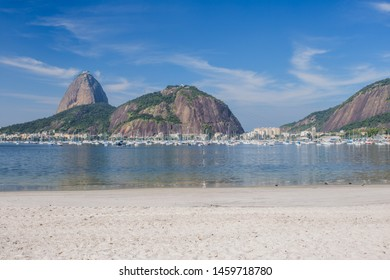 Mount Sugarloaf. Mount Sugarloaf is also the hallmark of Rio de Janeiro, like the statue of Christ the Redeemer. To climb the mountain by cable way . Botafogo Beach  in Rio de Janeiro