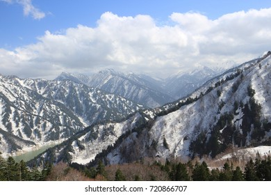 Mount Tate landscape, located in the southeastern area of Toyama Prefecture, Japan.