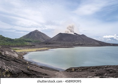 Mount Tavuruvur volcanic eruption. Tavurvur is an active volcano that lies near Rabaul, on the island of New Britain, in Papua New Guinea.