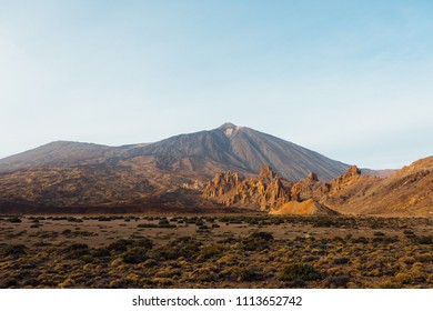 Mount Teide volcano in Tenerife at sunset