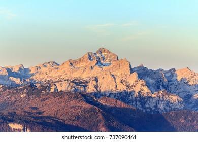 Mount Triglav, slovenian Alps