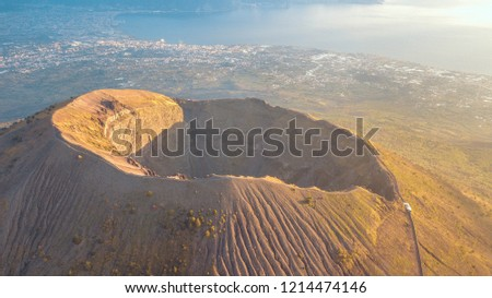 Mount Vesuvius from a
