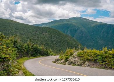 The Mount Washington Auto Road, in the White Mountains of New Hampshire