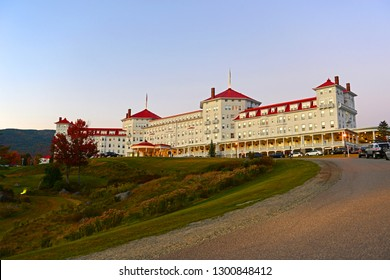 Mount Washington Hotel in summer, Bretton Woods, New Hampshire, USA. This Hotel hosted the Bretton Woods monetary conference in 1944